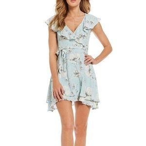 Free People Floral French Quarter Mini Wrap Dress